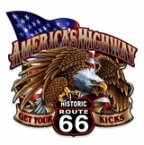 America's Highway Route 66 Metal Sign