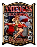 America's Highways Metal Sign
