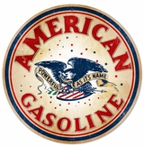 American Gasoline Metal Sign