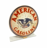 American Gasoline Topper Metal Sign