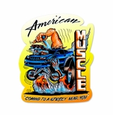 American Muscle Metal Sign