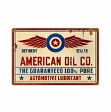 American Oil Co Metal Sign