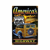American Woodie Metal Sign