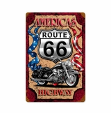 Americas Highway 66 Metal Sign