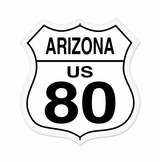 Arizona Route 80 Metal Sign