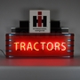 Art Deco Marquee Case IH Tractors Neon Sign In Metal Can