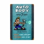 Auto Body Shop Hours Metal Sign