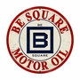 B Square Gasoline Metal Sign