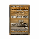 Bakers Field March Meet 2011 Metal Sign