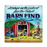Barn Finds Metal Sign