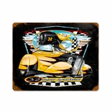 Bee Gee Roadster Metal Sign