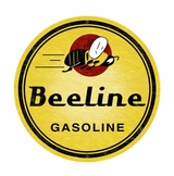 Bee Line Gasoline Metal Sign
