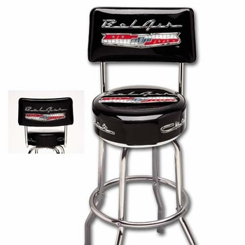Made in the USA Bel Air Stool With Back
