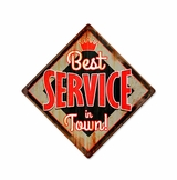 Best Service Metal Sign