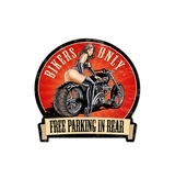 Bikers Only Metal Sign