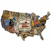 BKG USA LICENSE PLATE MAP Metal Sign