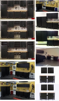 Items in Black Metal Cabinets