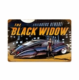 Black Widow Metal Sign