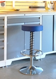 Blue Race Car Bar Stool