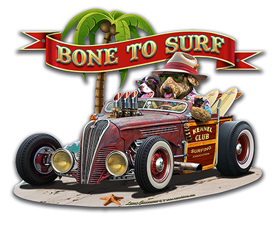 Bone to Surf Metal Sign