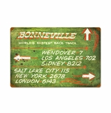 Bonneville Green Distance Sign