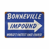 Bonneville Impound Metal Sign
