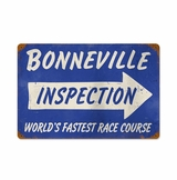 Bonneville Inspection Metal Sign