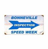 Bonneville Inspection Speed Week Metal Sign
