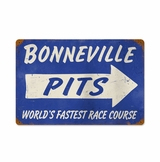 Bonneville Pits Metal Sign
