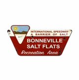 Bonneville Salt Flats Created Metal Sign
