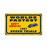 Bonneville Speed Trials Metal Sign
