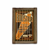 Booster Motor Oil Corrugated Framed Metal Sign