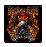 Born To Ride Metal Sign