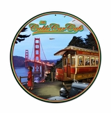 Cable Car Metal Sign