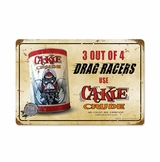Cackle Crude Metal Sign