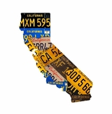 California License Plate State Metal Sign