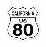California Route 80 Metal Sign
