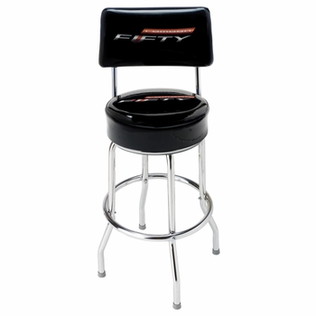 Made in the USA Camero Fifty Stool With Back