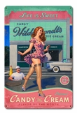 Candy and Cream Metal Sign