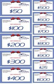 Items in Car Guy Gift Certificates