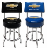 Made in the USA Chevy Bowtie Counter Stool With Back