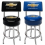 Chevy Bowtie Counter Stool With Back