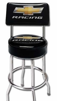Chevy Racing Stool With Back