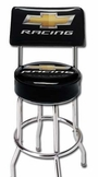 Made in the USA Chevy Racing Stool With Back