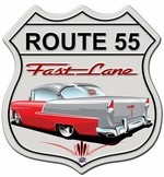 Classic Car Shield Metal Sign