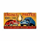 Clear Drop Oil Metal Sign