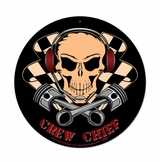 Crew Chief Metal Sign