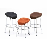 Custom Exotic Textured Leather Bar Stool
