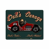 Dad'S Garage Racecar Metal Sign