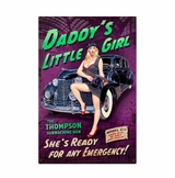 Daddy'S Little Girl Metal Sign